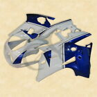 White Blue ABS Plastic Fairing Bodywork Set For YAMAHA FZR250 2KR 86-88 87 3A