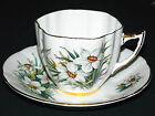 K.H.I.  FLORAL CUP AND SAUCER  FINE BONE CHINA   ENGLAND