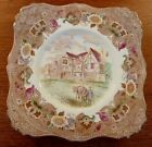 Tuscan China scenic English country inn multi-color transferware plate - FREE SH