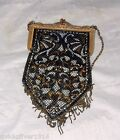 Vintage 1920s Mandalian Mfg Co Enamel Metalic Mesh Flapper Bag Fringe Purse Bag