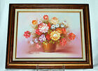 Bouquet of Flowers by Listed Artist Robert Cox - Oil on canvas
