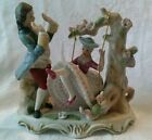 Vintage Victorian Man and Woman on Swing  Collectible Figure