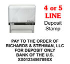 For Deposit Only Bank Self Inking Custom Rubber Stamp 2000 Plus Printer 40 Cosco