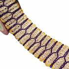 Braided Ribbon Sewing Trim Metallic Gold 6.3 Cm Wide Sari Ribbon By The Yard