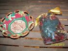 Fitz Floyd Christmas Lodge Small Bowl With Potpourri Set NEW