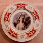 Clarice Cliff dinner plate with artist-signed portrait, ornate border - FREE SH