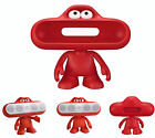 Red Portable Frog Case Holder For Beats Pill Bluetooth Speaker Doll Dude Stand