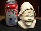 ANTIQUE GERMAN BISQUE HEAD CRYING BABY COVERED JAR 4 1/2