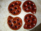 Lot 4 ST Clements France Escargot Snail Shaped Serving Plates Majolica Glazed