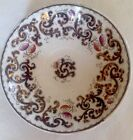 ANTIQUE Ironstone PLATE Edward Walley Scroll design with copper lustre 1800's