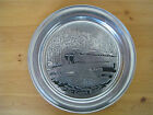THE COVERED BRIDGE, Old Mill Ent, Milmetal, Lancaster, PA, pewter plate, 10.75