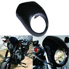 Black Head Light Front Visor Fairing Mask Cover For Harley Sportster Motorcycle