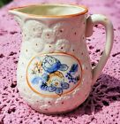 VINTAGE 1950's HAND PAINTED PORCELAIN CREAMER WITH EMBOSSED DAISIES - JAPAN