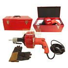 Electric Drill Style AUGER SNAKE Pipe Drain Clearing Pluming Cleaner Pistol Grip