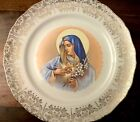 SABIN Crest O Gold 22K Blessed Mother with Lilies and Heart 10