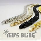 14k Gold Silver Black Canary 2 ROW Lab Diamond ICED OUT Chain Tennis Bracelet