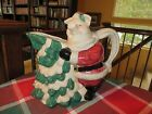 Fitz and Floyd OCI Christmas Pig with Christmas Tree Pitcher  Mint Rare