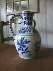 LARGE  Artelier Boch Keramis Freres Delft Faience Hand Painted Necked Jug! NR