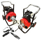 1 2 Snake 80 Ft Electric Drain Auger Cleaner Cleaning Sewer Plumbing Cutter