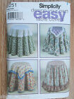 Simplicity® Design Your Own Table Covers Assoted Designs Pattern 9251 New Uncut