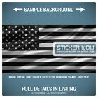 Rear Window Truck Graphic Decal - US American Flag USA Black White - 3 Sizes