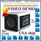 MOTION ACTIVATED- TOP Secret Spy Camera Mini Clock Hidden/Covert Audio/video
