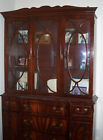 VINTAGE ANTIQUE BEAUTIFUL MAHOGANY WOOD & GLASS CHINA CABINET/HUTCH