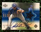 2001 UPPER DECK ALEX RODRIGUEZ GAME USED JERSEY ON CARD AUTOGRAPH RANGERS