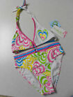 NEW Girls LISABELLE SWIMWEAR Rainbow Hearts 2 pc Halter BIKINI 7 or 14