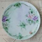 ANTIQUE 1900-1920 OHME SILESIA HAND PAINTED PORCELAIN PLATE W/ FLORAL PATTERN