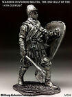 Tin soldiers 54 mm Warrior Novgorod militia, the 2nd half of the 14th century