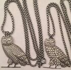 MEDIUM OWL NECKLACE COMBO STAINLESS PENDANT 26