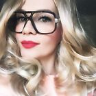 Vintage OVERSIZED Big Square RETRO Large Aviator Top Gaselle EyeGlasses Frames L