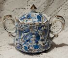 VINTAGE LEFTON CHINA HAND PAINTED PAISLEY DESIGN SUGAR BOWL WITH LID - JAPAN