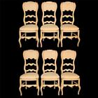 6 Country French Style Shabby Ladder Back Distress Painted Chic Dining Chairs