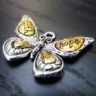 Faith Hope Butterfly 31mm Wholesale Silver Plated Charms C8174 2 5 Or 10PCs