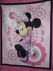 MINNIE MOUSE PINK FABRIC PANEL 100% COTTON