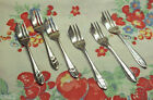 Six 1930 Sheffield, England Silver Plate Pastry/Fish, Etc. Forks, Loxley Pattern