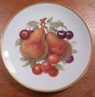 Vintage Mitterteich Germany pears, cherries fruit plate with gold trim - FREE SH