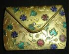 Jeweled Powder Compact Form Of a Purse Signed Castelli