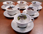 6 vintage Alfred Meakin Audubon Birds of America cups and saucers - FREE SHIP