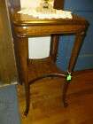 Antique Oak Table Quarter Sawn Tiger Solid Refinished Fancy 1900 's Parlor lamp