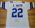 Emmitt Smith Autographed Signed White Dallas Cowboys Jersey Tristar COA