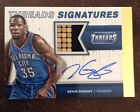 2014-15 PANINI THREADS GOLD SIGNATURES PRIME JERSEY AUTO KEVIN DURANT 9 25