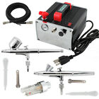 OPHIR 02mm 03mm Dual Action Airbrush Kit with Air Compressor Set for Nail Art