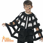 Child Spider Cape Boys Girls Web Fancy Dress Kids Halloween Costume Outfit