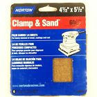Clamp & Sand, 4 1/4''X5 1/2'' PALM SANDER 1/4 SHEETS 6/Pack, 60 Course Grit