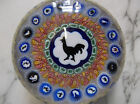 Baccarat Paperweight 1971 Millefiori Rooster Large 3