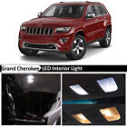 18x White LED Interior Lights Package Kit 2011 2015 Jeep Grand Cherokee + TOOL
