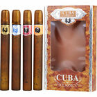 Cuba Variety 4 Piece Variety With Cuba Gold, Blue, Red & Orange & All Are EDT Sp